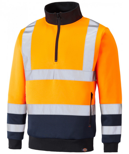 Dickies Two Tone Hi Vis Sweat SA22092 Orange